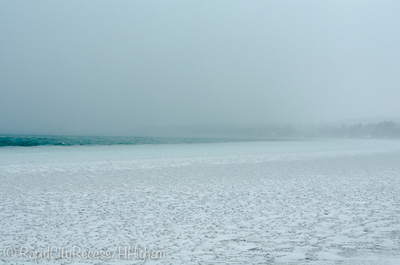Lake effect eats Torch Lake