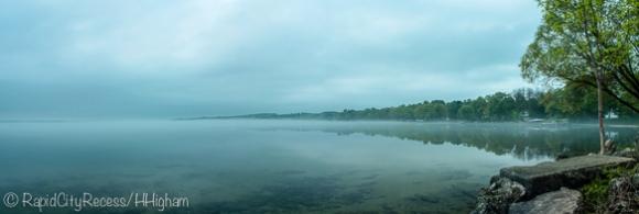Foggy Torch Lake Panorama